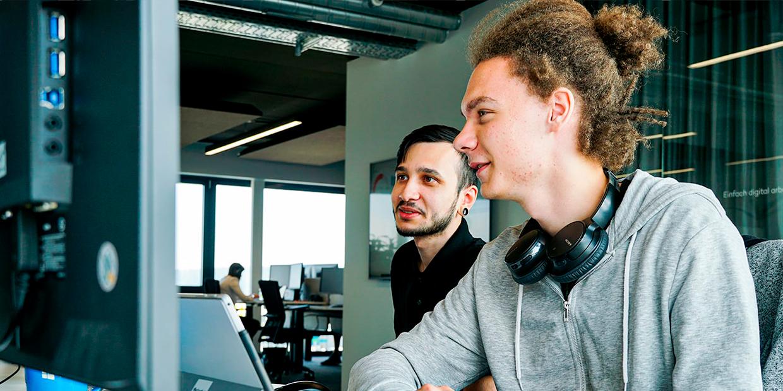 Jonathan Beil, Azubi bei fly-tech